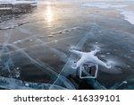 Drone Shoot The Frozen Lake.
