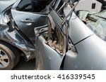 car in an accident | Shutterstock . vector #416339545