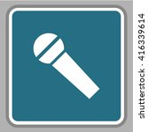 microphone vector  icon  | Shutterstock .eps vector #416339614