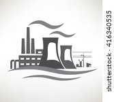 power plant  traditional... | Shutterstock .eps vector #416340535
