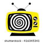 television as influential mass... | Shutterstock .eps vector #416345341