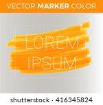vector orange stripes drawn... | Shutterstock .eps vector #416345824