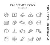 car service icons. | Shutterstock .eps vector #416347369