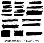grunge brush strokes vector set ...   Shutterstock .eps vector #416348791