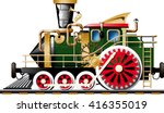 fictional steampunk steam... | Shutterstock .eps vector #416355019