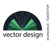 plant logo design | Shutterstock .eps vector #416357539