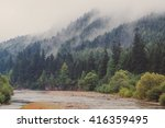 the river on a background of... | Shutterstock . vector #416359495