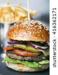 burger | Shutterstock . vector #416362171
