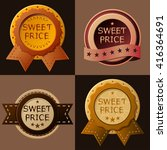 "set of stickers ""sweet price"" 