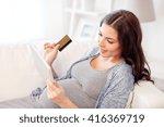 pregnancy  online shopping ...   Shutterstock . vector #416369719