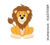 cute lion cartoon   Shutterstock .eps vector #416370589