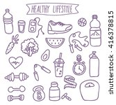 healthy lifestyle. vector... | Shutterstock .eps vector #416378815