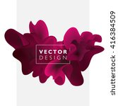 vector abstract color cloud. ... | Shutterstock .eps vector #416384509