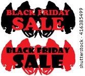 black friday stickers label or... | Shutterstock . vector #416385499