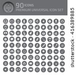 90 icons premium universal icon ... | Shutterstock .eps vector #416389885