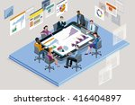 colleagues at an office meeting ... | Shutterstock .eps vector #416404897
