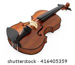 violin isolated on white... | Shutterstock . vector #416405359