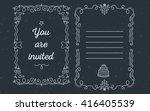 vector template of wedding... | Shutterstock .eps vector #416405539