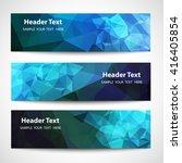 set of label banner polygon... | Shutterstock .eps vector #416405854