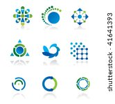 collection of 9 design elements ... | Shutterstock .eps vector #41641393