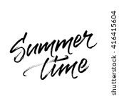summer time lettering with... | Shutterstock .eps vector #416415604