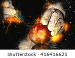 red apple in genetic... | Shutterstock . vector #416416621