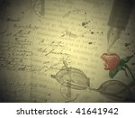 vintage love letter with... | Shutterstock . vector #41641942