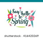 colorful abstract flower... | Shutterstock .eps vector #416420269