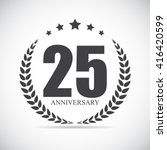 template logo 25 years... | Shutterstock .eps vector #416420599