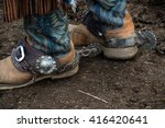 western cowboy boots and silver ... | Shutterstock . vector #416420641