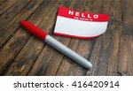name tag. | Shutterstock . vector #416420914