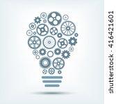 light bulb with gears inside.... | Shutterstock .eps vector #416421601