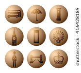 badge and icon set with symbols ...   Shutterstock .eps vector #416428189