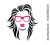 hipster girl icon. beauty woman.... | Shutterstock .eps vector #416430214