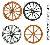 wooden wheel | Shutterstock .eps vector #416432314