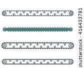 four conveyor set vector... | Shutterstock .eps vector #416433781