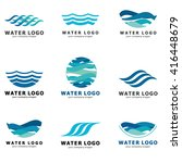 a collection of logos for water ... | Shutterstock .eps vector #416448679