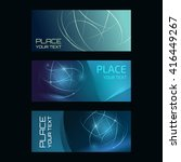 three abstract banners... | Shutterstock .eps vector #416449267