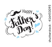 happy father's day... | Shutterstock .eps vector #416453095