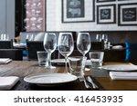 Fine Restaurant Dinner Table...