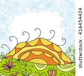 beautiful nature pattern...   Shutterstock .eps vector #416454424