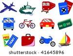 twelve vector travel icons ... | Shutterstock .eps vector #41645896