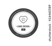 herbal heart label black | Shutterstock .eps vector #416460589