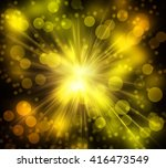 explosion light effect sparkles ... | Shutterstock . vector #416473549