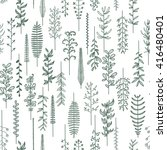 pattern with natural elements | Shutterstock .eps vector #416480401