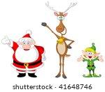 Very Cute Santa Claus  Rudolph...