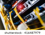 fiber optic with servers in a... | Shutterstock . vector #416487979
