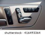 chrome door seat adjust button... | Shutterstock . vector #416493364