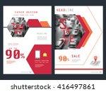 annual report brochure flyer... | Shutterstock .eps vector #416497861