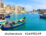 a view of a spinola bay in st.... | Shutterstock . vector #416498149